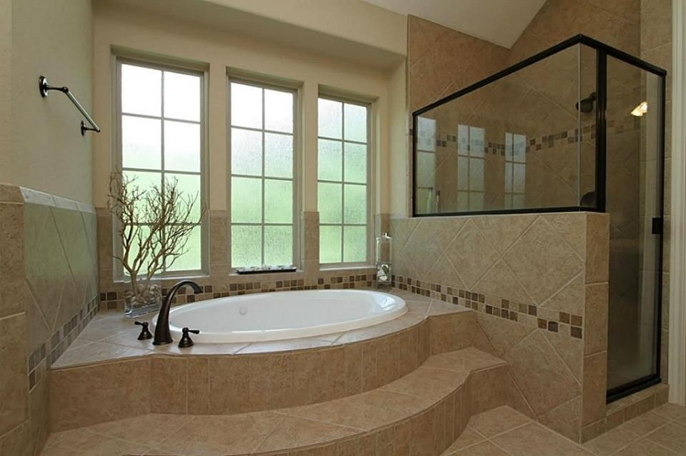 garden tub and shower