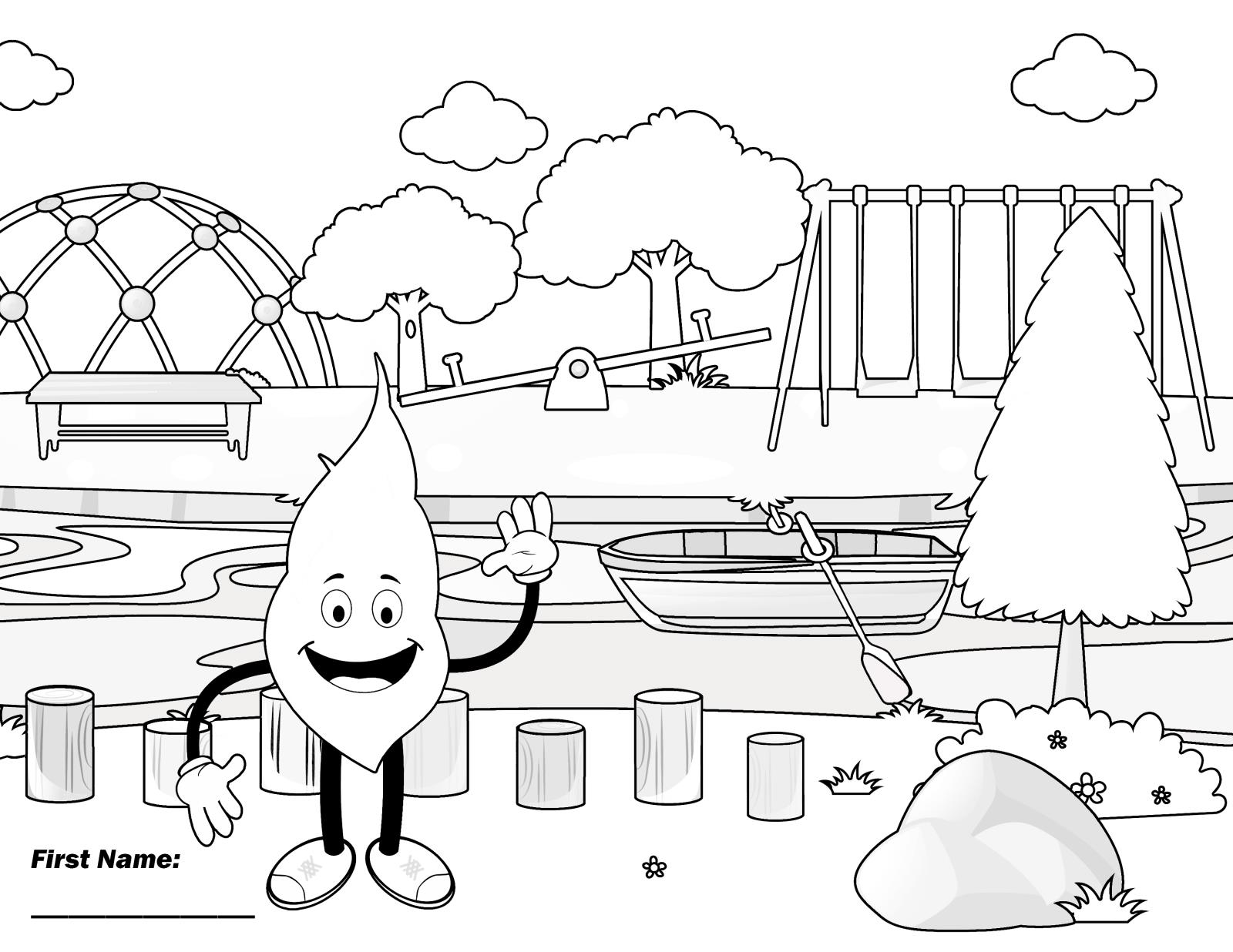 B&W Coloring Page