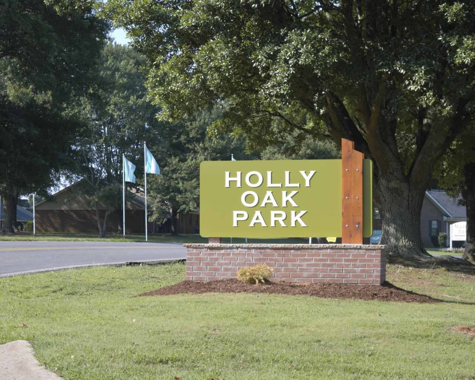 holly oak sign
